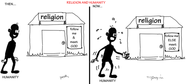 cartoon on charlie hebdo attack, mysay.in, charlie hebdo shooting,religion and humanity,