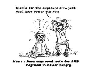 anna hazare arvind kejriwal cartoon