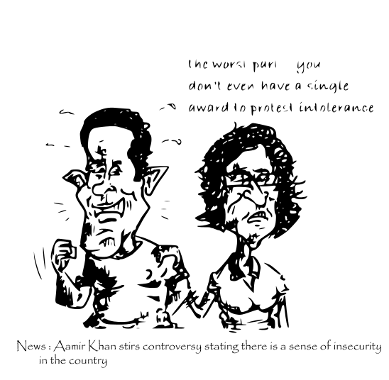 aamir cartoon, sunita rao cartoon,