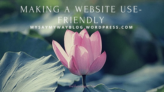 Making a Website Use-Friendly
