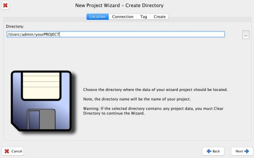 project wizard directory