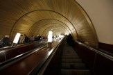 Russia - Impressive tunnels of the Moscow metro