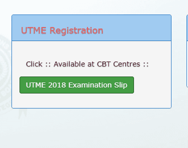 Official Link To Print JAMB Exam Slip For 2018 UTME Enabled