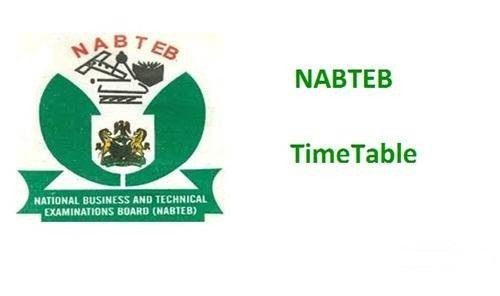 NABTEB May/June Exam Timetable For 2018 Released