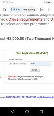 FUTMINNA extends post UTME registration deadline for 2020/2021 session