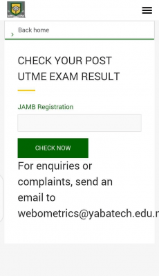 YABATECH Post-UTME result for 2020/2021 session