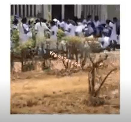 UNN nursing students seen writing a test under the sun (video)
