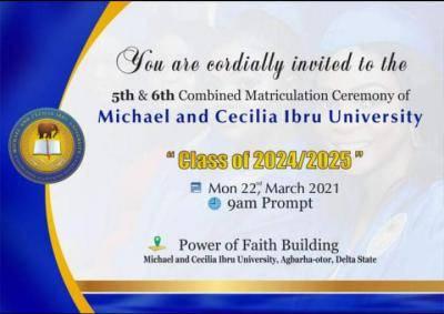 MCIU announces 5th & 6th matriculation ceremony