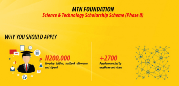 MTN Foundation Scholarships for Undergraduates 2019 - Apply Here