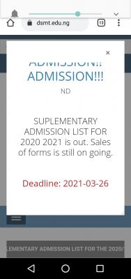DESOMATECH extends post-UTME registration deadline for 2020/2021 session