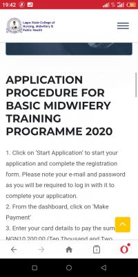 LASCON 2020 Basic Midwifery training programme
