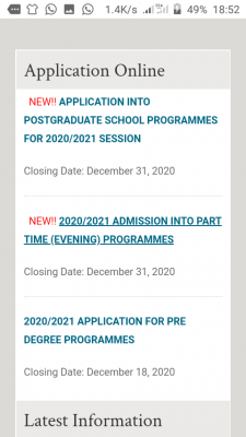 RSUST Part-time Admission, 2020/2021 Announced