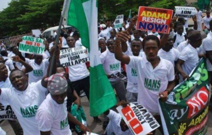 NANS Threatens To Disrupt General Elections If ASUU, ASUP Strike Continues