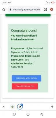 NUBAPOLY HND Admission List