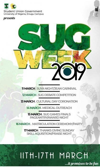 University of Nigeria, Enugu Campus (UNEC) Announces 2019 SUG Week