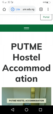 UNN notice to 2020 post-UTME candidates on hostel accommodation