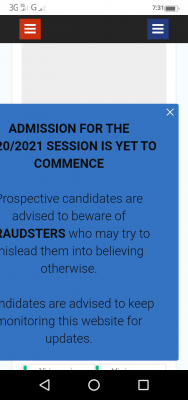 NAUB advises candidates to beware of fraudsters as 2020/2021 admission is yet to commence