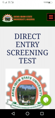 AKSU Direct Entry screening exercise for 2020/2021 session