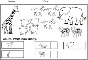 Kindergarten Math Facts and Printable Worksheets