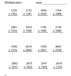 5th Grade Math Practice Multiplication [ 1650 x 1275 Pixel ]