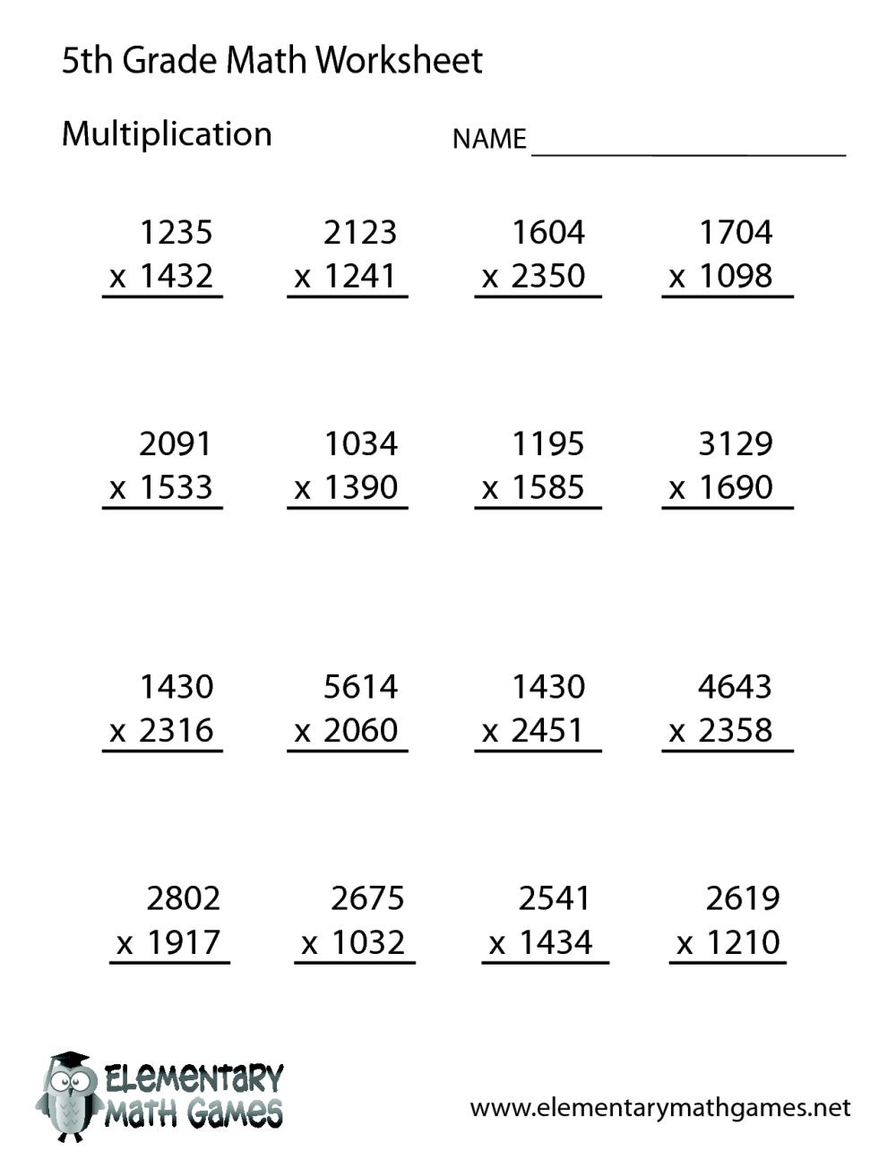 medium resolution of 5th Grade Math Practice Multiplication