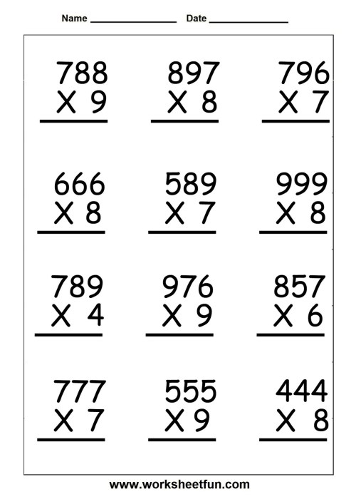 small resolution of 5th Grade Math Facts and Printable Worksheets - 2018