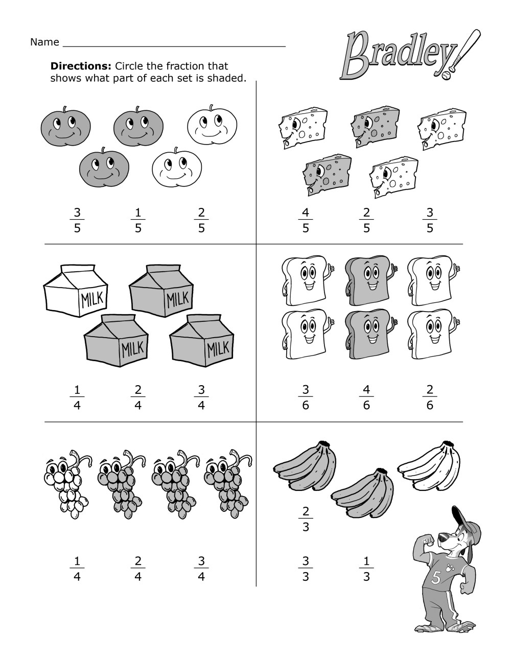 medium resolution of Fun With Fractions Practice Worksheet