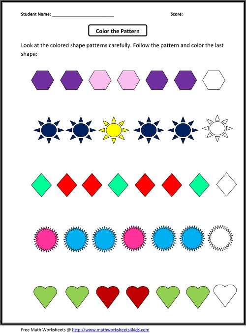 small resolution of Patterns Practice Worksheet for 2nd Grade