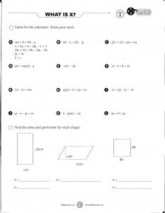 8th Grade Math Facts and Printable Worksheets