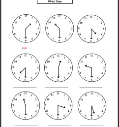 Telling Time Practice Worksheet for 2nd Graders [ 3174 x 2350 Pixel ]