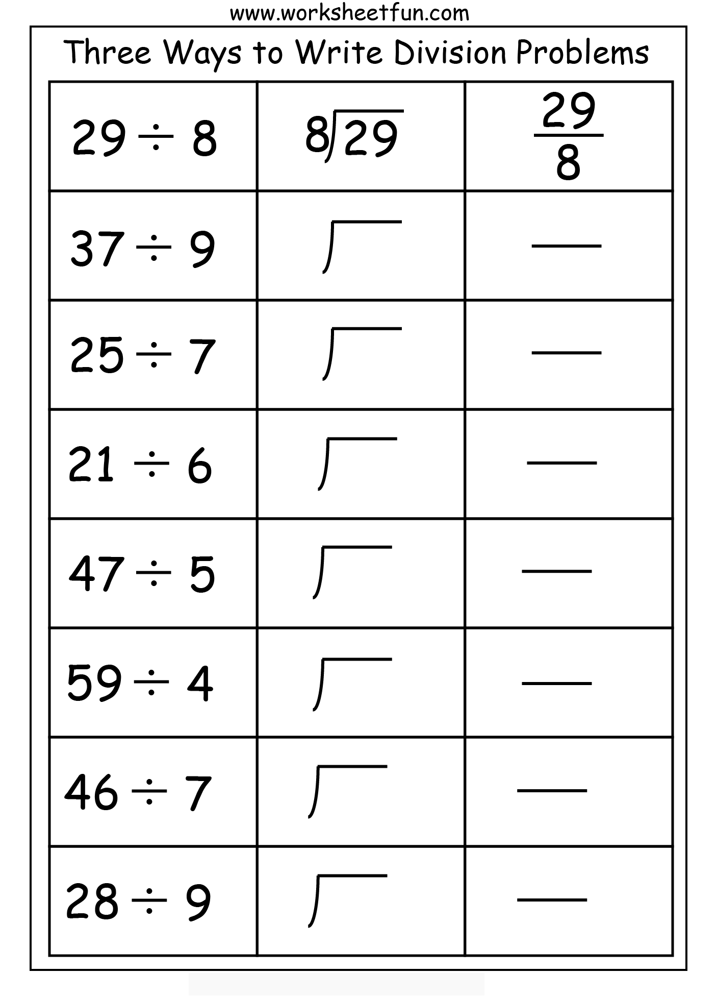hight resolution of Three Ways to do Division Practice