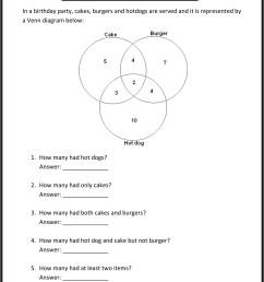 Venn Diagram Practice Worksheet [ 3174 x 2350 Pixel ]