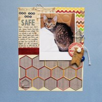 Budget Scrapbooking: One set of Stickers, Two Layouts