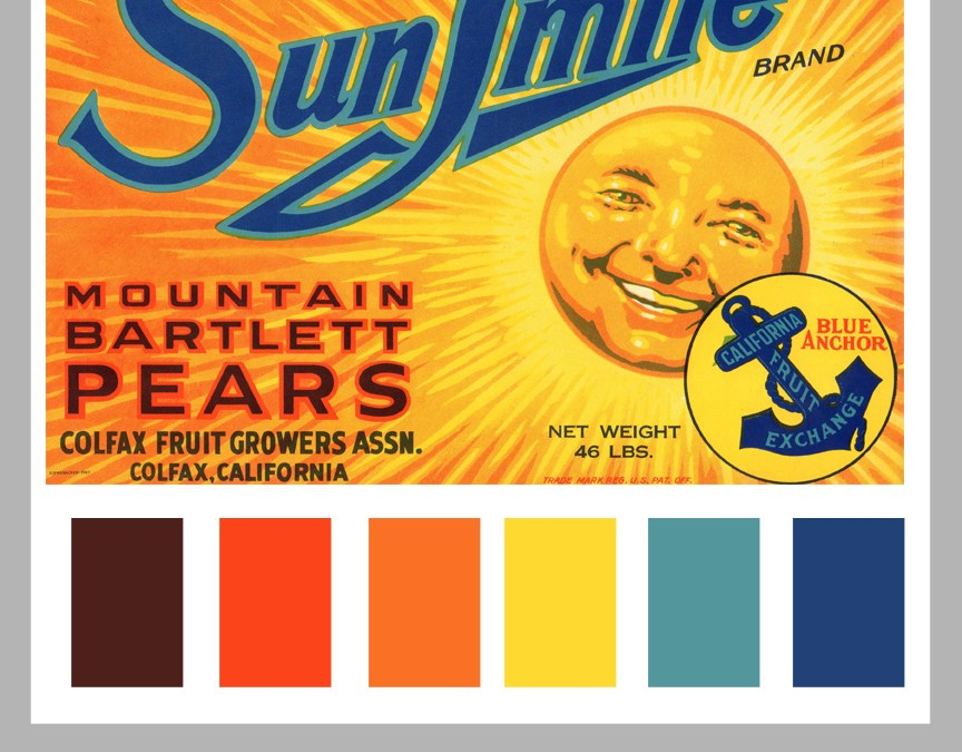 Vintage Color Formula: Sunshine and Large Labels