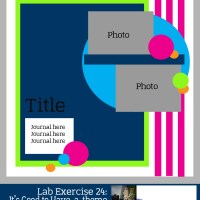 Lab Exercise 24: It's Good to Have a Theme!-Scrapbook Sketch