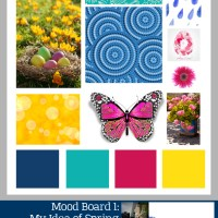 Mood Board 1: Spring and Scrapbook Challenges