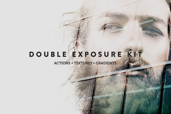 double exposure kit from creative market