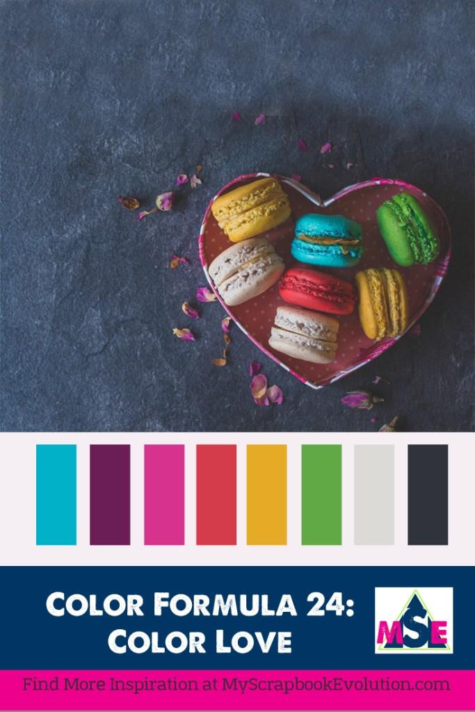 color formula 24- a color palette from My Scrapbook Evolution- color love