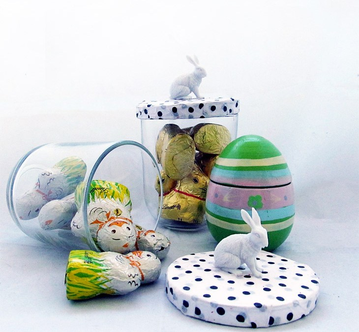 An easter basket of inspiration archives my scrapbook evolution a quick and easy last minute easter gift jar negle Images