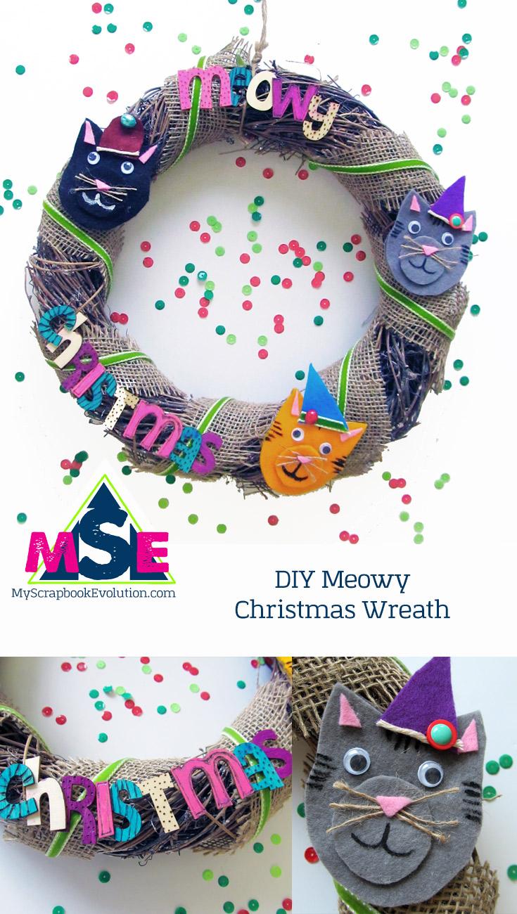 DIY Meowy Christmas Wreath