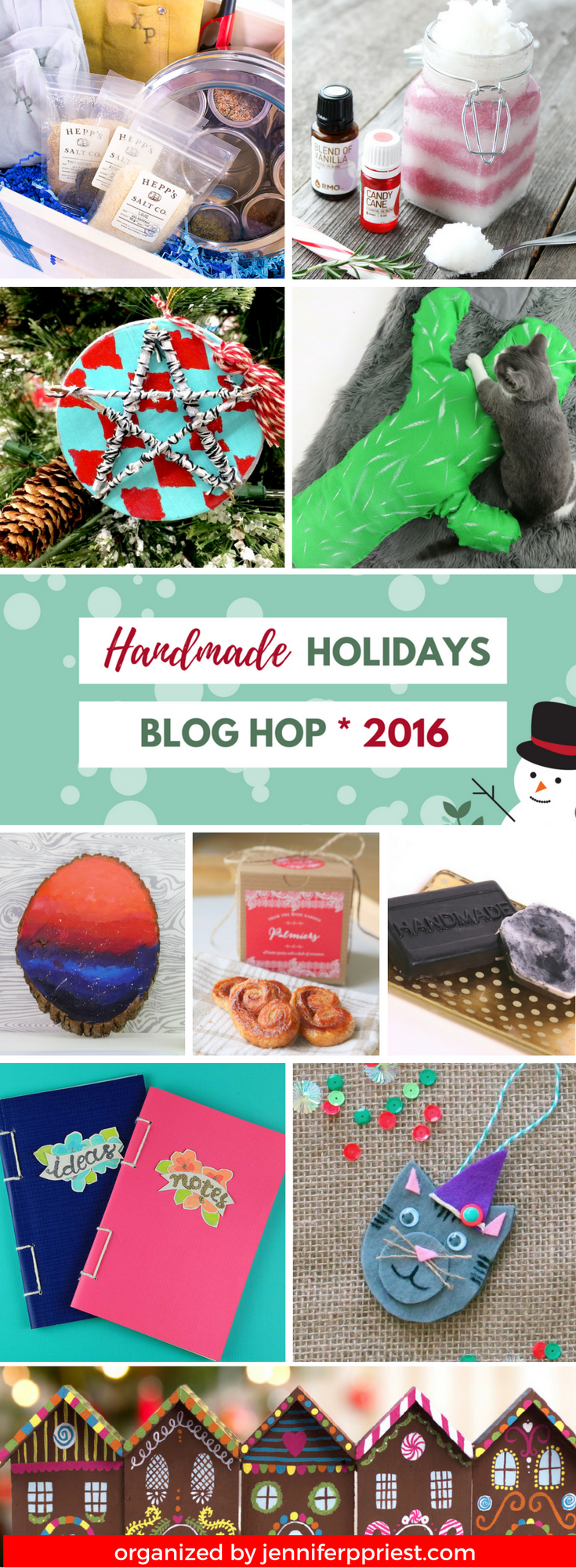 The Handmade Holidays 2016 blog hop features 50 plus ideas for recipes, decor and gifts. Click to check it out!