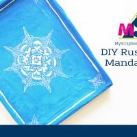 DIY Rustic Style Mandala Tray