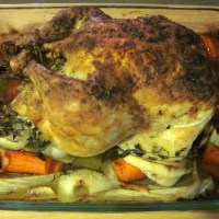 Garlic-Lemon Roast Chicken with Vegetables