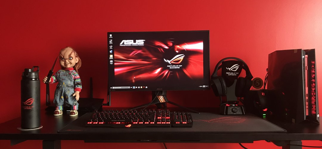 gamer chair accessories where to buy covers in dubai asus rog $4,000 gaming setup! | mysetup.co