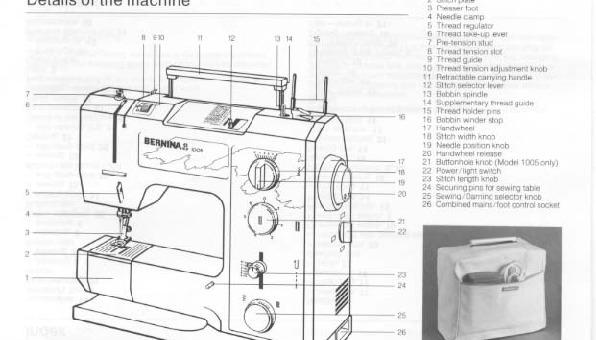 Bernina 1004-1005 Sewing Machine Instruction Manual for