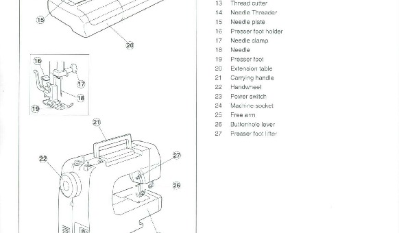 Brother NX-2041 Sewing Machine Instruction Manual for