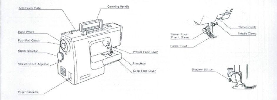 Janome MS2522 Sewing Machine Instruction Manual for