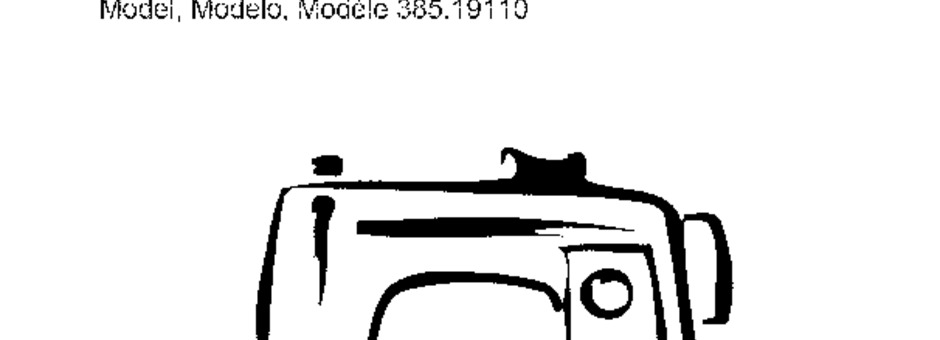 Kenmore 385.19110 Sewing Machine Instruction Manual for