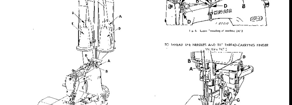 Singer 247-2_3 Sewing Machine Instruction Manual for