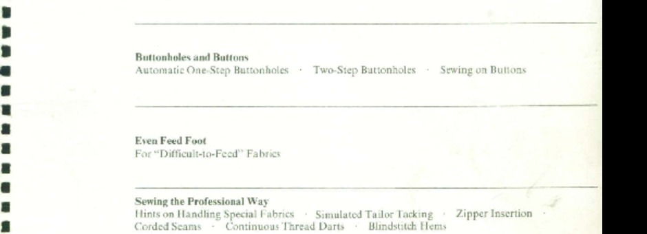 Singer 740-760 Sewing Machine Instruction Manual for
